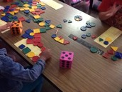 Adding patterns to fill a ten frame in Mrs. Unger's Class