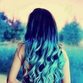 Blue Arbre Hair