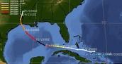 Hurricane Rita's path