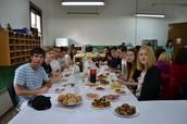 Comida con los alumnos de Suecia y Profesores
