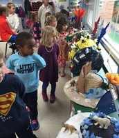 Preprimary students take a tour of the state hats