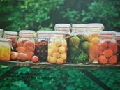 Frutas en almíbar.