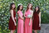 Милые девушки, предлагаем Вам платья-трансформеры для подружек невесты в Самаре!
