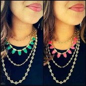 Eye Candy Necklace Hot Pink - $24 (Retail $49)