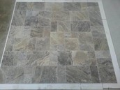 Silver FP Brushed & Chiseled Tiles