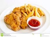 Lorenzo Cain's chicken tenders