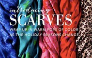New, Colorful, Printed Scarfs