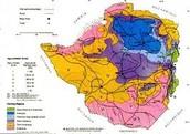 Climate map of Zimbabwe