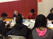 LMS Social Studies teacher Stan Ladd walks students through STAAR Math review.