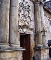 Cost of Arms of Scotland over the main entrance.