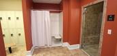 Locker room with STEAM ROOM