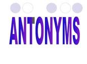 Antonyms: