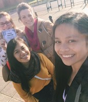 Outreach on the Streets of Glasgow on a Sunny Day