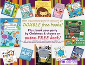 DOUBLE FREE BOOKS in January, PLUS a free gift!