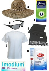 Packing list to go to Nile River.