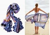 Capri Cotton Wrap - Moroccan Tile