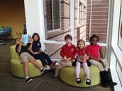 Students (and teachers!) enjoy the Media Center