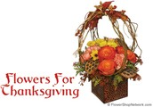 Thanksgiving flower basket