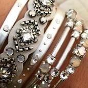 Silver bracelet stack