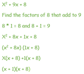 Solving by Factoring Uses the Rainbow Method