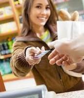 consumer buying bread