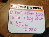 Classroom Quote of the Week