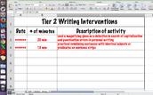 Sample Tier 2 Intervention Log