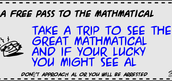 a free coupon to see the mathmatical