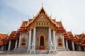 The Bhuddist temple.