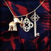 Elephant Charm - Gold