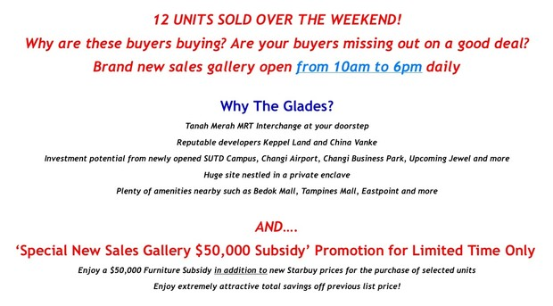 The Glades @ Tanah Merah | Smore Newsletters