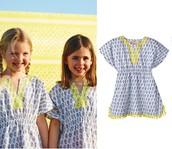 Capri Tunic - Blue Paisley Girls Reg $49 -25% sale $37