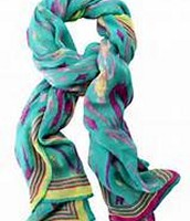 Palm Springs Scarf- Turquoise Ikat