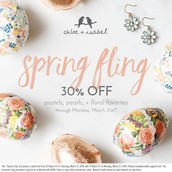 SPRING FLING SALE starts today through Monday!