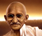 Peaceful face of Mahatma Gandhi