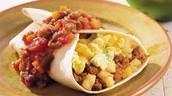 chorizo y huevos desayuno burritos doscientos ochenta y cinco pesos (285)
