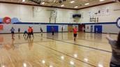 7th grade practicing football