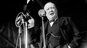 Churchill Giving a Speech