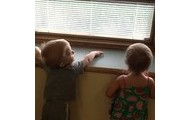 Watching for a school bus!