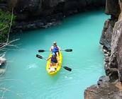 El kayac en el rio