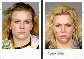 Before and After smoking crack