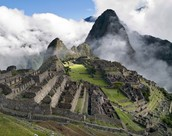 Macchu Picchu, Peru 13 degrees S, 73 degrees W