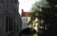 A unique house on a bridge in Bruge.
