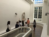 Ryan and Sophia tour third graders at the Fenyes Mansion