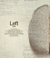 Left side of the brain.