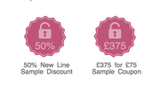 EARNERS OF £375 for £75 Coupon (& 50% off Sampling)