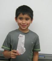 Alex's origami penguin