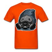 La camiseta anaranjado