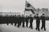 Куйбышев. Куйбышева Площадь. Парад 7 ноября 1941 года. А.с. Г.В. Бичурова.