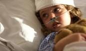 La niña recuperación de cirugía